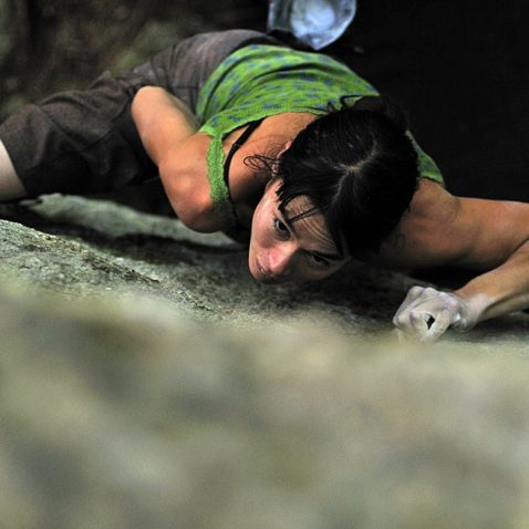 Thomasina Pidgeon pulling down in Squamish.  Photo Mike Chapman