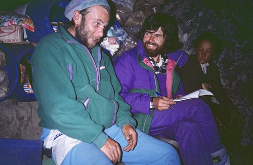 Artur Hajzer and Reinhold Messner at Lhotse Photo Artur Hajzer