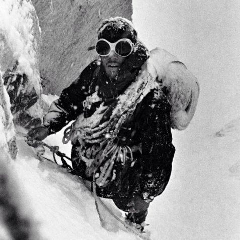 Doug Tompkins on Fitz Roy in 1968. Photo by Chris Jones