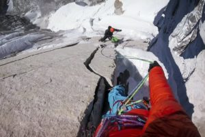 David Lama and Conrad Anker Lunag Ri in Nepal