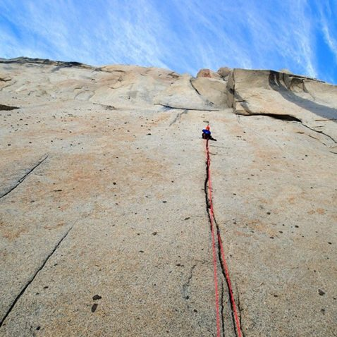 Making the first ascent of the impressive west face of Aguja El Tridente. Photo Takaaki Nagato, Katsutaka Yokoyama. Source: PlanetMountain.com