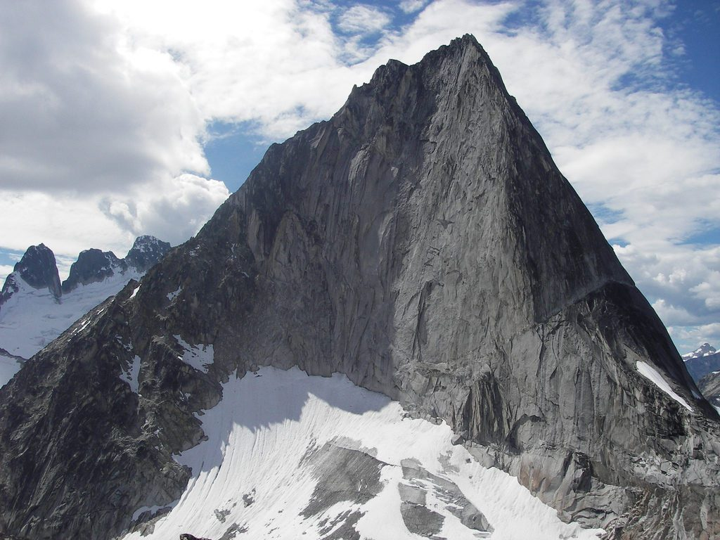 Kain Route is left ridge on Bugaboo Spire.