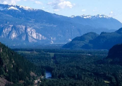 Looking down Paradise Valley to Squamish
