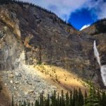 Takakkaw Falls rock fall  Photo Bobby Gunning