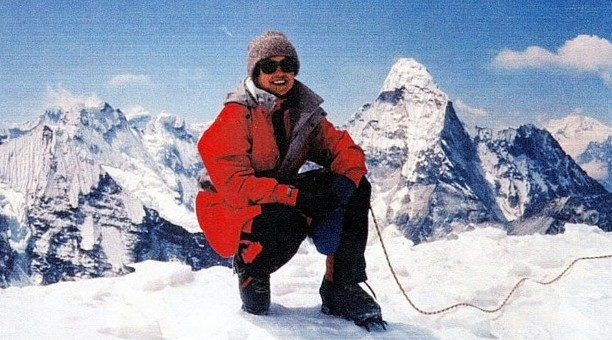 Francys Distefano-Arsentiev, on Mount Everest, in this undated handout photo, was the first American woman to reach the summit of Mount Everest without bottled oxygen.  Distefano-Arsentiev, along with her husband Serguei Arsentiev, of Norwood, Colo., died on the mountain, after the successful ascent May 23, 1998. No one knows exactly why the couples' descent turned deadly, but officials think the two were weakened after spending three nights at such a high elevation.   (AP Photo/Lexington Herald-Leader, HO)