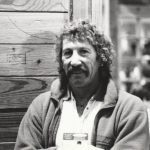 Jim Bridwell visits the Salt Lake trade show, about 1990. Photo Pat Ament